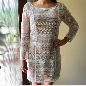 Madison Marcus Lace  Long Sleeve Dress Size M